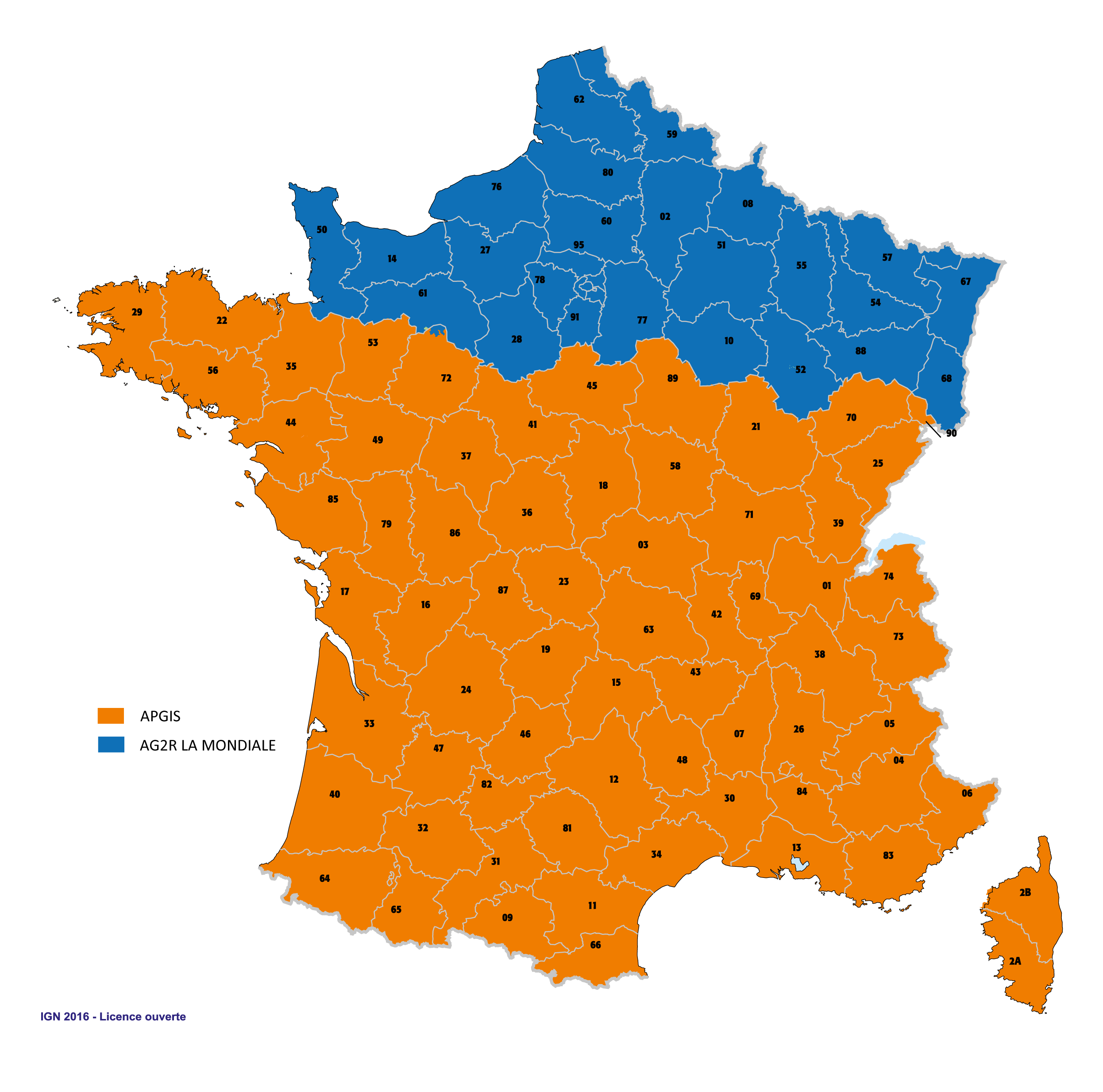 Carte répartition